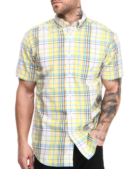 Nautica - Men Yellow Vineyard Poplin S/S Button-Down