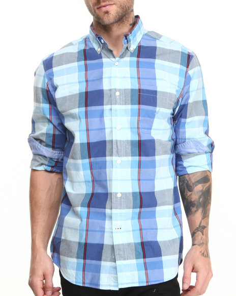 Nautica Blue Vineyard Poplin L/S Button-Down
