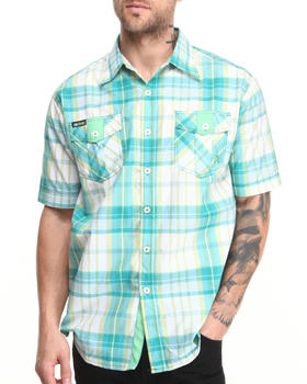 Akademiks - Camaro Plaid Short Sleeve Button-Down Shirt