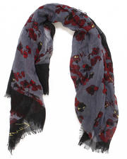 Gloves & Scarves - Floral Voile Scarf
