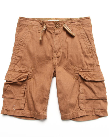 Levi's Boys Tan Deck Cargo Shorts W/ Drawcord (4-7X)