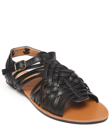 Fashion Lab - Women Black Renee Braided Flat Sandal