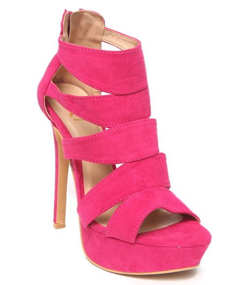 Fashion Lab - Carina Faux Suede Cutout Platform Pump