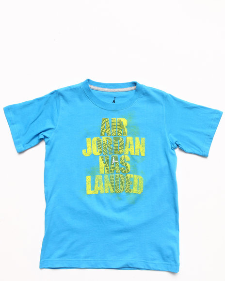 Air Jordan - Boys Blue Air Jordan Has Landed Tee (8-20)