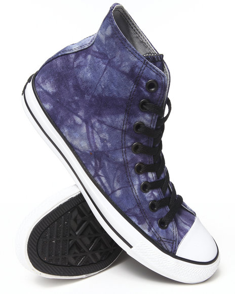 Converse - Men Blue Tie Dye Canvas Chuck Taylor All Star Hi Sneakers