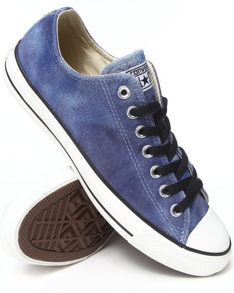 Converse - Men Blue Tie Dye Suede Chuck Taylor All Star Ox Sneakers