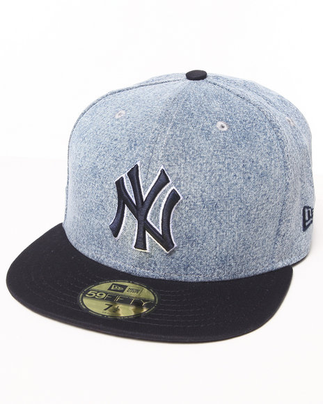 New Era - Men Grey New York Yankees Denim Grunger 5950 Fitted Hat