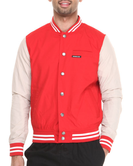 Members Only - Men Red Summer Varsity Jacket