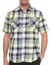 Akademiks - Shelby Large Plaid Short Sleeve Button Down Shirt