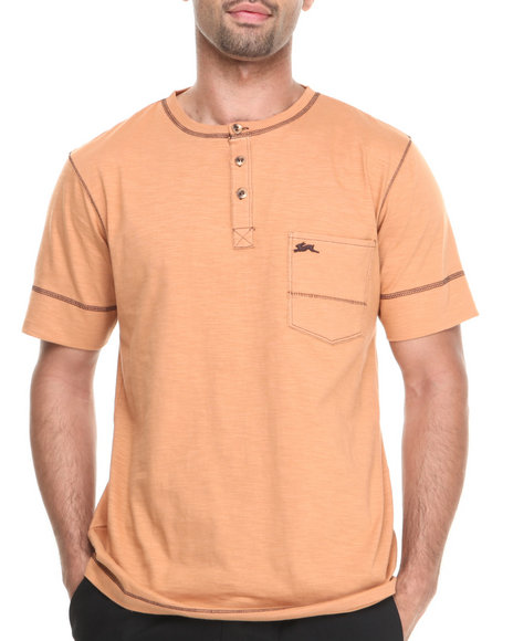 A Tiziano Orange Noah Y-Neck T-Shirt