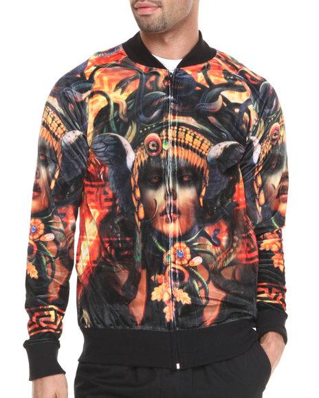 Akademiks - Men Black,Gold Medusa Sublimation Starter Jacket