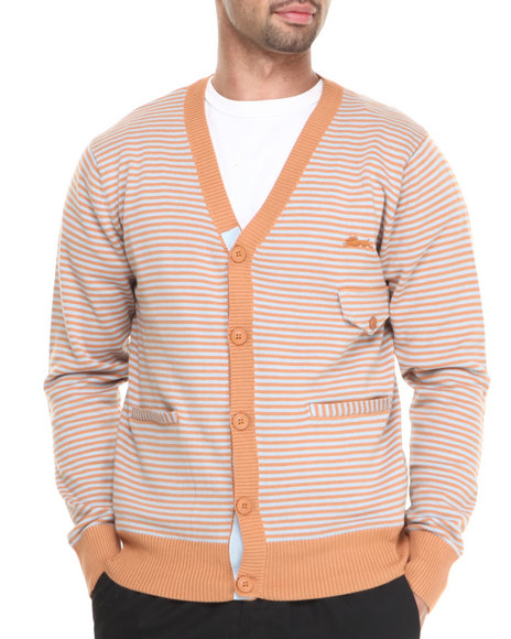A Tiziano Orange Jayden Cardigan