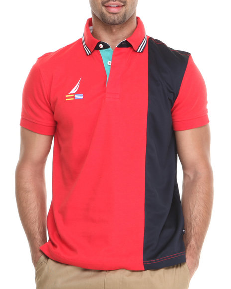 Nautica Red Performance Ponte S/S Polo