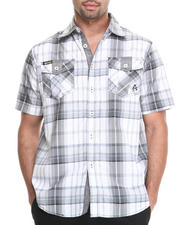 Button-downs - Camaro Plaid Short Sleeve Button Down Shirt