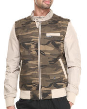 Men - Camouflage Racer Jacket