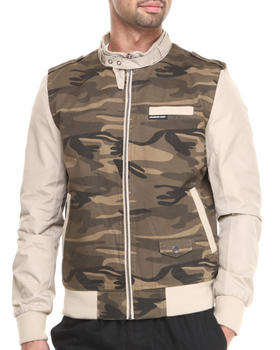 Members Only - Camouflage Racer Jacket