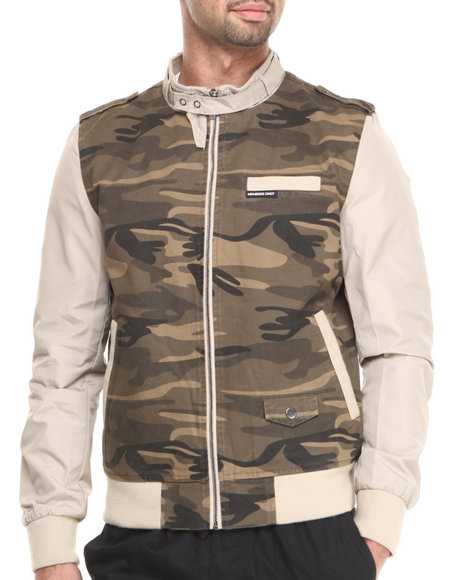 Members Only - Men Camo Camouflage Racer Jacket