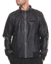 Leather Jackets - Faux Leather Iconic Racer Jacket