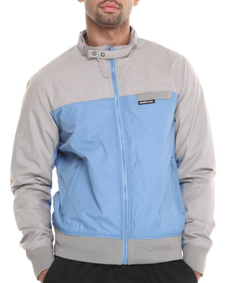 Members Only - Men Blue Color Block Bomber Jacket