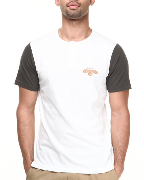 Rvca - Men Cream Heater Henley Tee