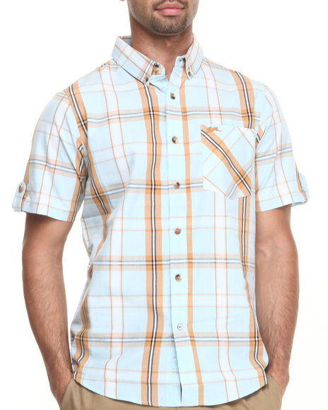 A Tiziano Blue Patrick S/S Button-Down