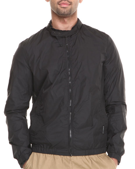 Members Only - Men Black Nylon Packable Jacket