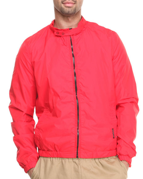 Members Only - Men Red Nylon Packable Jacket