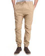 Men - Drawstring Elastic Banded Twill Pants