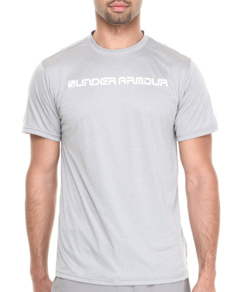 Under Armour - Men Grey Indopass S/S Tee Upf 50 Protection & Hydro Armour)