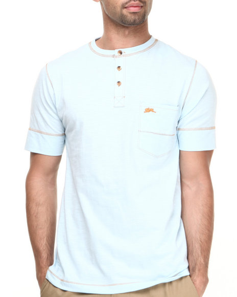 A Tiziano Blue Noah Y-Neck T-Shirt