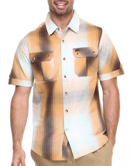 A Tiziano Brown Eli S/S Button-Down