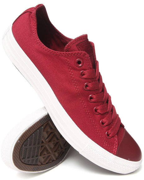 Converse - Men Red Mono Pack Chuck Taylor All Star Ox Sneakers