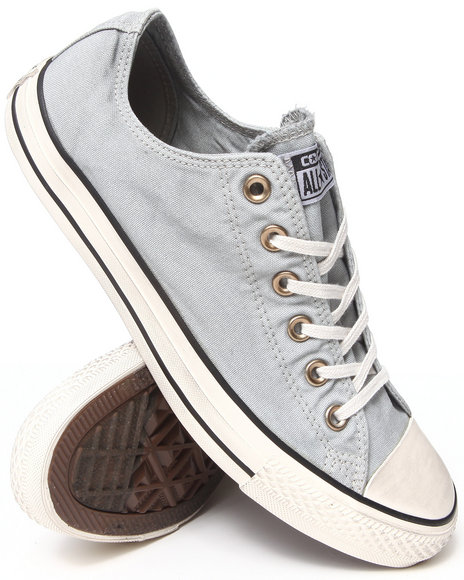 Converse - Men Grey Washed Canvas Chuck Taylor All Star Ox Sneakers