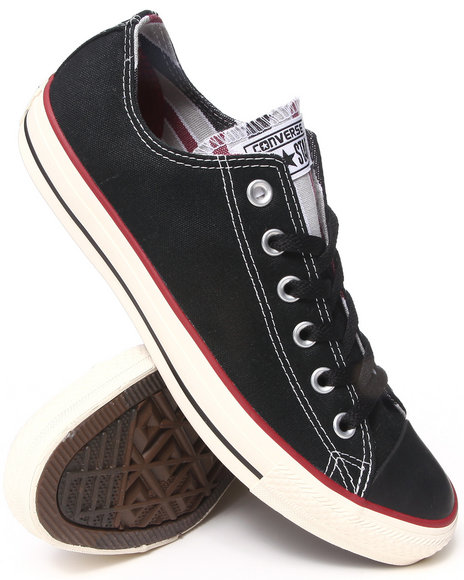 Converse Black Striped Canvas Chuck Taylor All Star Ox Sneakers