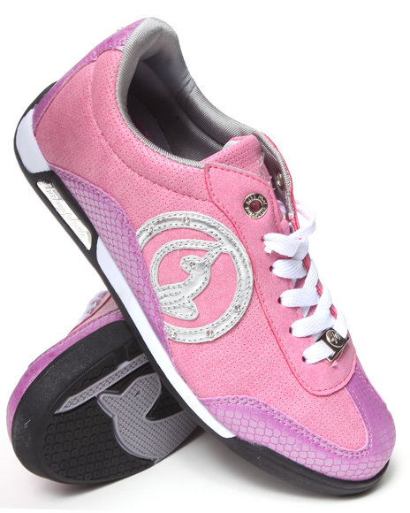 Baby Phat - Women Pink Orla Low Court Sporty Sneaker