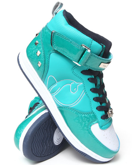 Baby Phat Green,Teal Mariah Studded Patent Sneaker