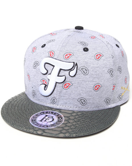 Filthy Dripped Paisley Snapback Grey