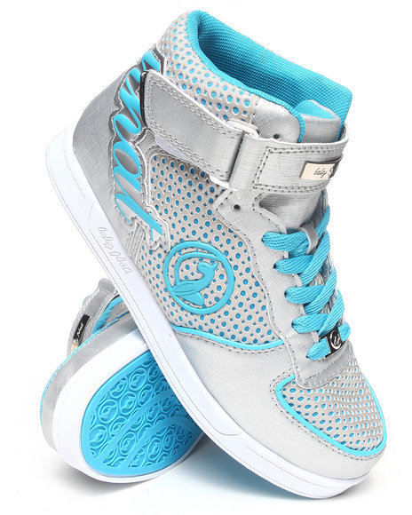 Baby Phat - Women Blue,Silver Iris Logo High Top Sneaker