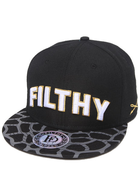 Filthy Dripped Men Mosaic Snapback Black