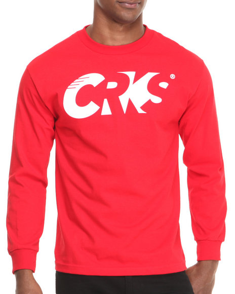 Crooks & Castles - Men Red Sportek L/S T-Shirt - $26.99