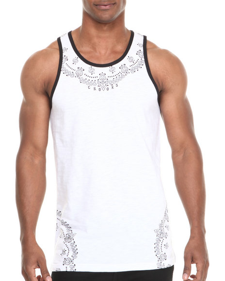 Crooks & Castles White Tanks