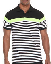 Buyers Picks - Yarn Dyed Engineered Stripe Pique Polo Shirt