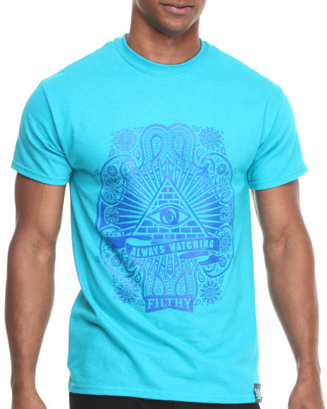 Filthy Dripped - Men Blue Always Watching T-Shirt