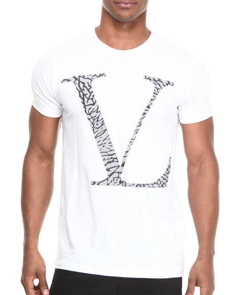 Vampire Life - Men White V L Reflective Cement Logo S/S Tee