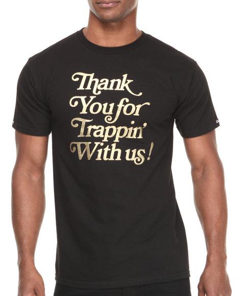 Crooks & Castles - Men Black Trappin T-Shirt