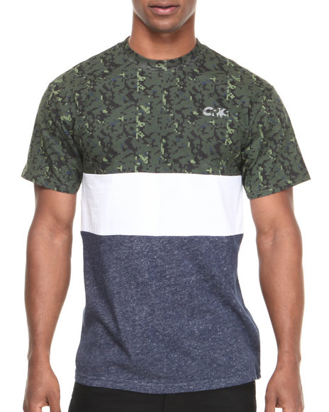 Crooks & Castles - Men Camo Run This T-Shirt