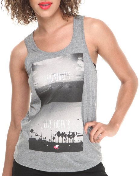 Glamour Kills Grey Road Warriors Tank Top