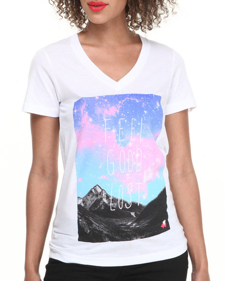 Glamour Kills White Lost Adventures V-Neck Tee