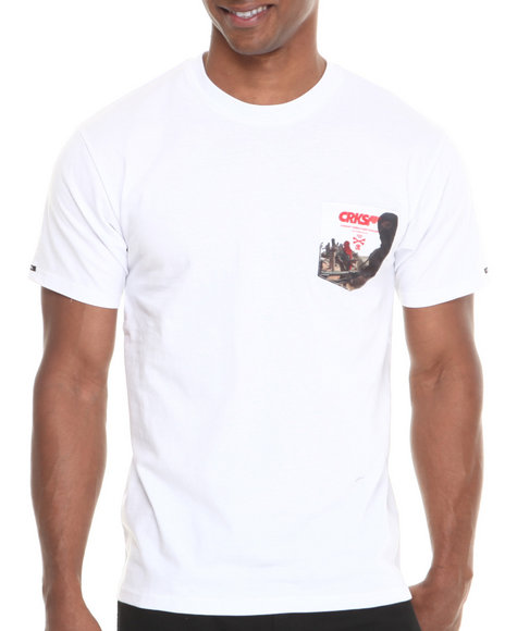 Crooks & Castles - Men White Corrupt T-Shirt