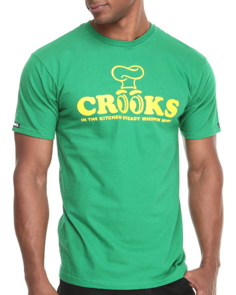 Crooks & Castles - Men Green Whippin' Work T-Shirt - $22.99